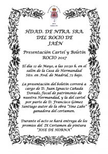 Presentación Cartel y Boletín 2.017