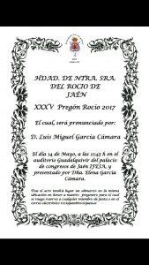 XXXV Pregón del Rocio 2.017
