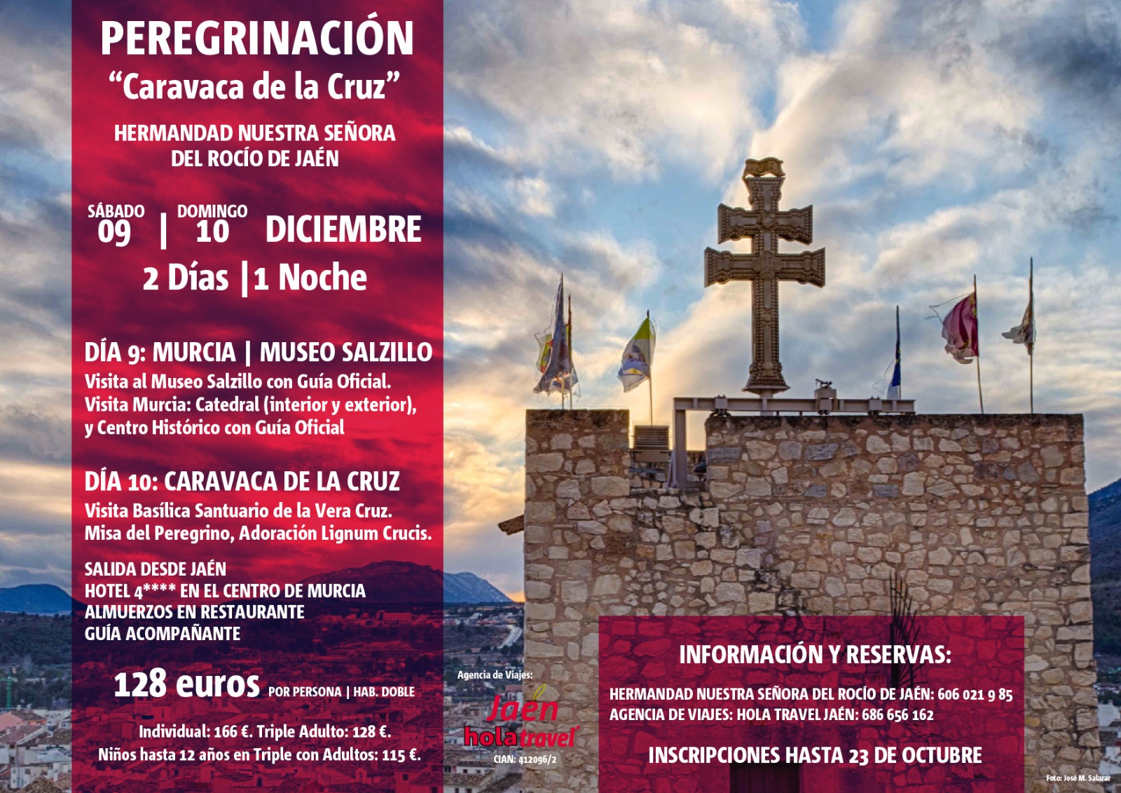 Anulado el Viaje Jubilar Caravaca de la Cruz